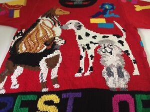 3e979feb05cba Vtg 1989 Berek Marta D Uruguay Designer Sweater Hand Knit Best of ...