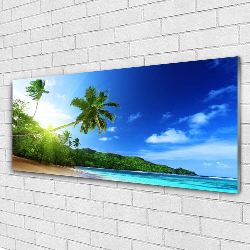 Strand 125x50 Glas Auf Druck Wandbild Glasbilder Meer Landschaft