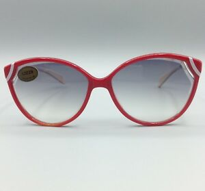 Occhiale-da-sole-LOZZA-mod-ACAPULCO-vintage-red-frame-made-in-Italy-Sunglasses