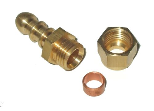 8mm bore hose nozzle to tube adaptor for LPG pipework choose size   F10xxx