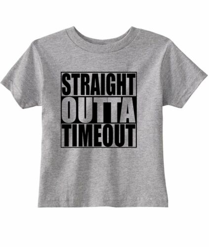"""Funny /""""Straight Outta Timeout/"""" Unisex Toddler T-Shirt"""