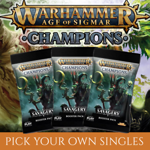 C-U-R -NON FOIL Warhammer Champions SAVAGERY Singles