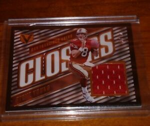 STEVE YOUNG 2017 VERTEX CLOSERS GAME WORN JERSEY PATCH /49 HOF SAN FR 49ERS MINT