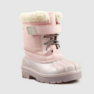 10 Cat /& Jack Girls Toddlers Valmai Winter Snow Boots Gray Size 6 7 11
