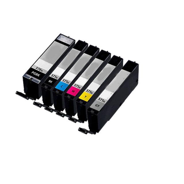 6 XL Ink Cartridges For Canon TS8050 TS8051 TS8052 TS8053 TS9050 TS9055