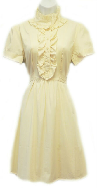 New Retro 1920s 1930s Ivory Gatsby Downton Edwardian style ruffle shirt Dress