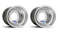 Dwt Polished Atv Rear Wheels Rims Pair 8 8x6 4x100 Yamaha Blaster 200 Tri-z 250