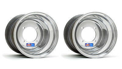 """DWT Polished A5 Rolled Lip ATV Rear Wheel 10/"""" 10x10 5+5 4//110 Honda TRX250R 450R"""