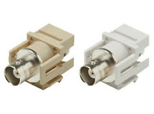 1 BNC Coax Connector Coupler for Keystone Wall Plate/Patch Panel White or Ivory