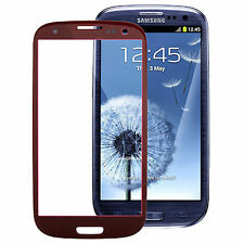 VETRO BORDEAUX SAMSUNG GALAXY S3 GT i9300 NO DISPLAY NO TOUCHSCREEN RED ROSSO