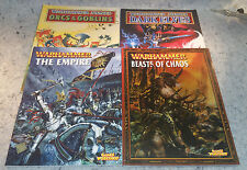 Games Workshop Warhammer Armies Book Lot 4 books one low price.......