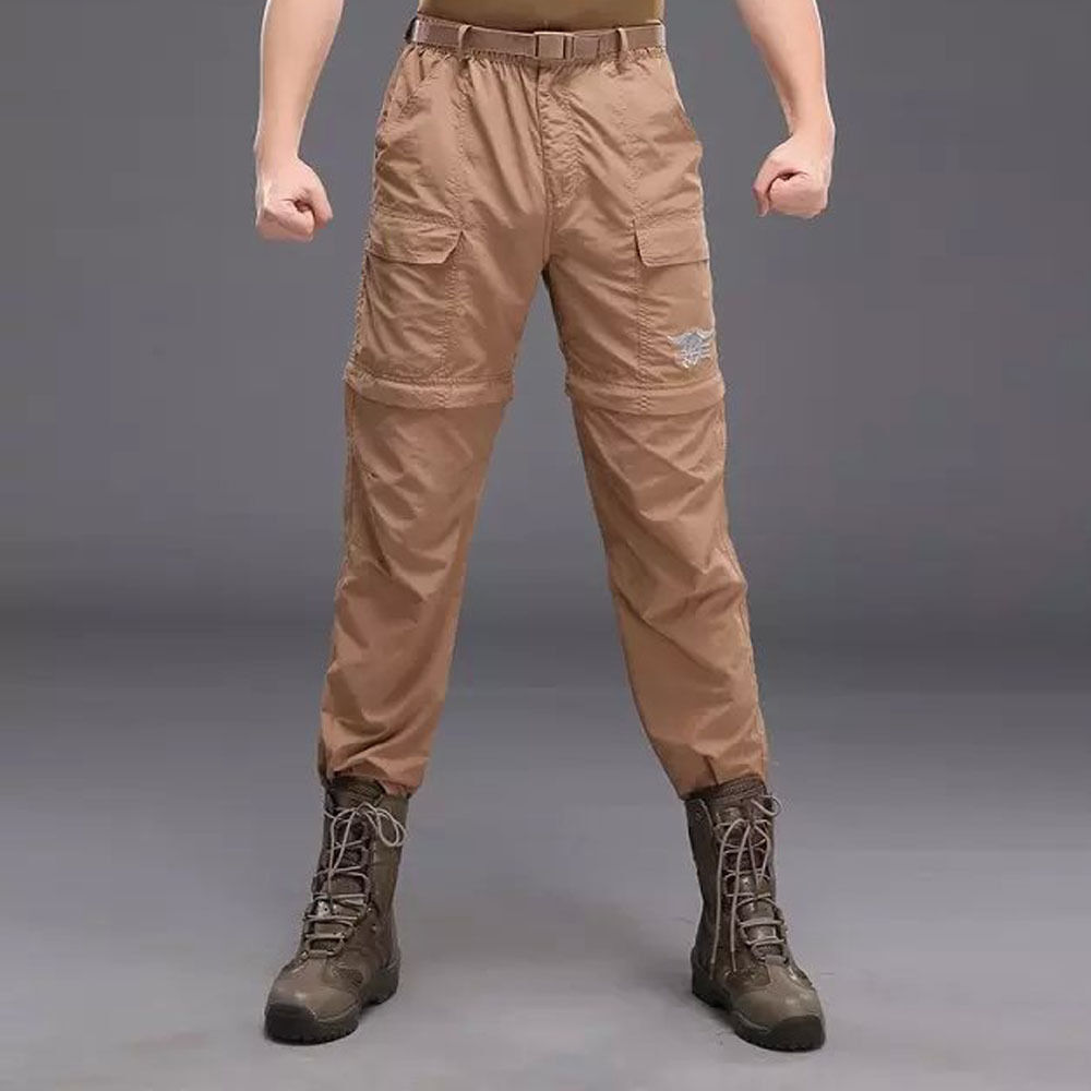 New Men's Hiking Removable Fast Drying Long Pants two-in-one Shorts Trousers