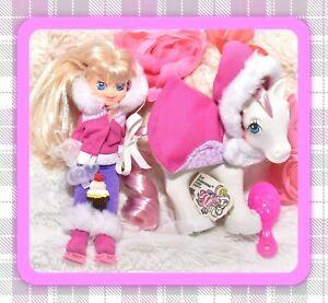 My-Little-Pony-MLP-G1-Vtg-Megan-Doll-SUNDANCE-Ice-Princesses-Pony-Wear-Set