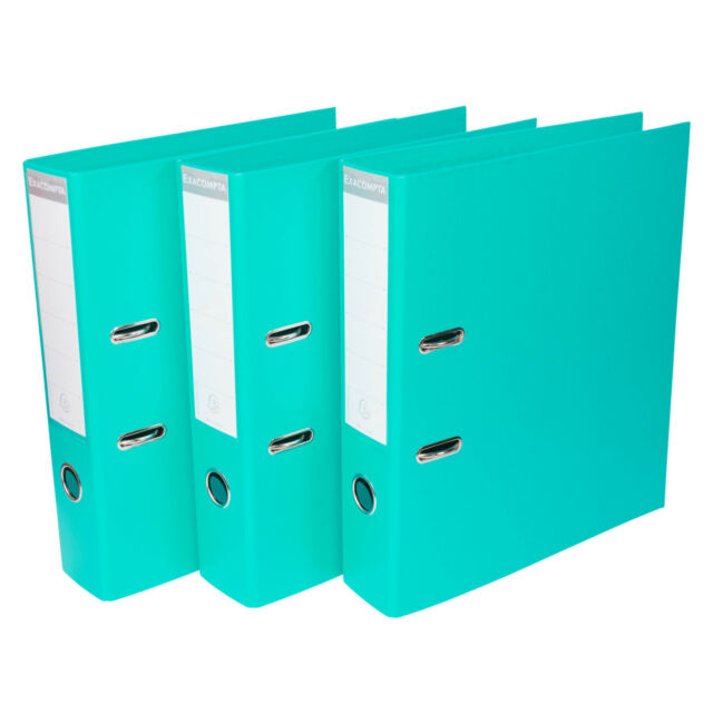 Pack of 3 Black Foolscap Lever Arch Files 75mm Paper Storage Archive Legal Document Folders