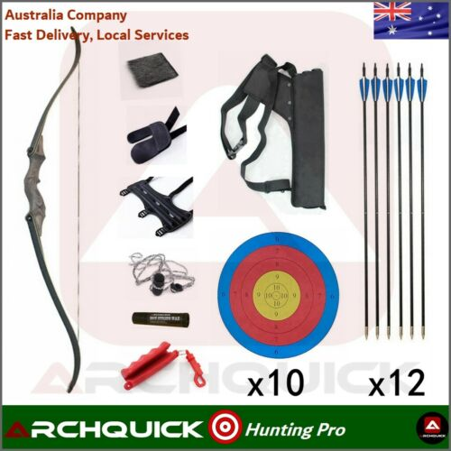 """ARCHQUICK Archery 58/"""" Recurve Hunting Bow Target /& Hunting 30-60lbs Pro R//L HAND"""