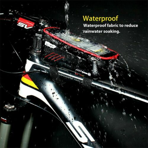 Waterproof Bicycle Front Tube Frame Bag for 6.0 inch Touch Screen Phone Holder