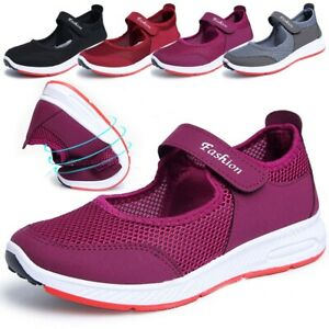 Women-039-s-Non-slip-Sport-Slip-On-Elastic-Flat-Shoes-Breathable-Casual-Sandals-Size