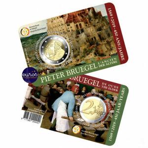 Coincard-2-euros-BELGIQUE-2019-FLAMAND-450-ans-Pieter-Bruegel-l-039-Ancien-BU
