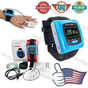 CONTEC-OLED-SpO2-PR-24h-Sleep-Monitor-Wrist-Pulse-Oximeter-Finger-probe-Software
