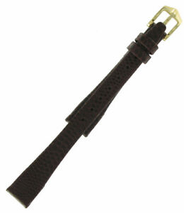 Hirsch-12mm-Genuine-Lizard-Leather-Short-Brown-Womens-Watch-Strap-NOS