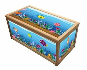 Image Is Loading OCEAN TREASURE WOODEN TOY BOX STORAGE UNIT FOR
