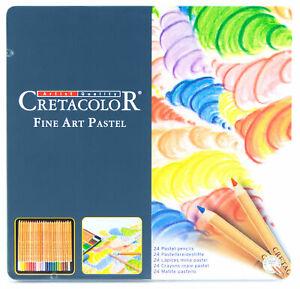Cretacolor-Fine-Art-Pastel-Artist-039-s-Pencils-Set-24-Brilliant-Colors-Cedar-Casing