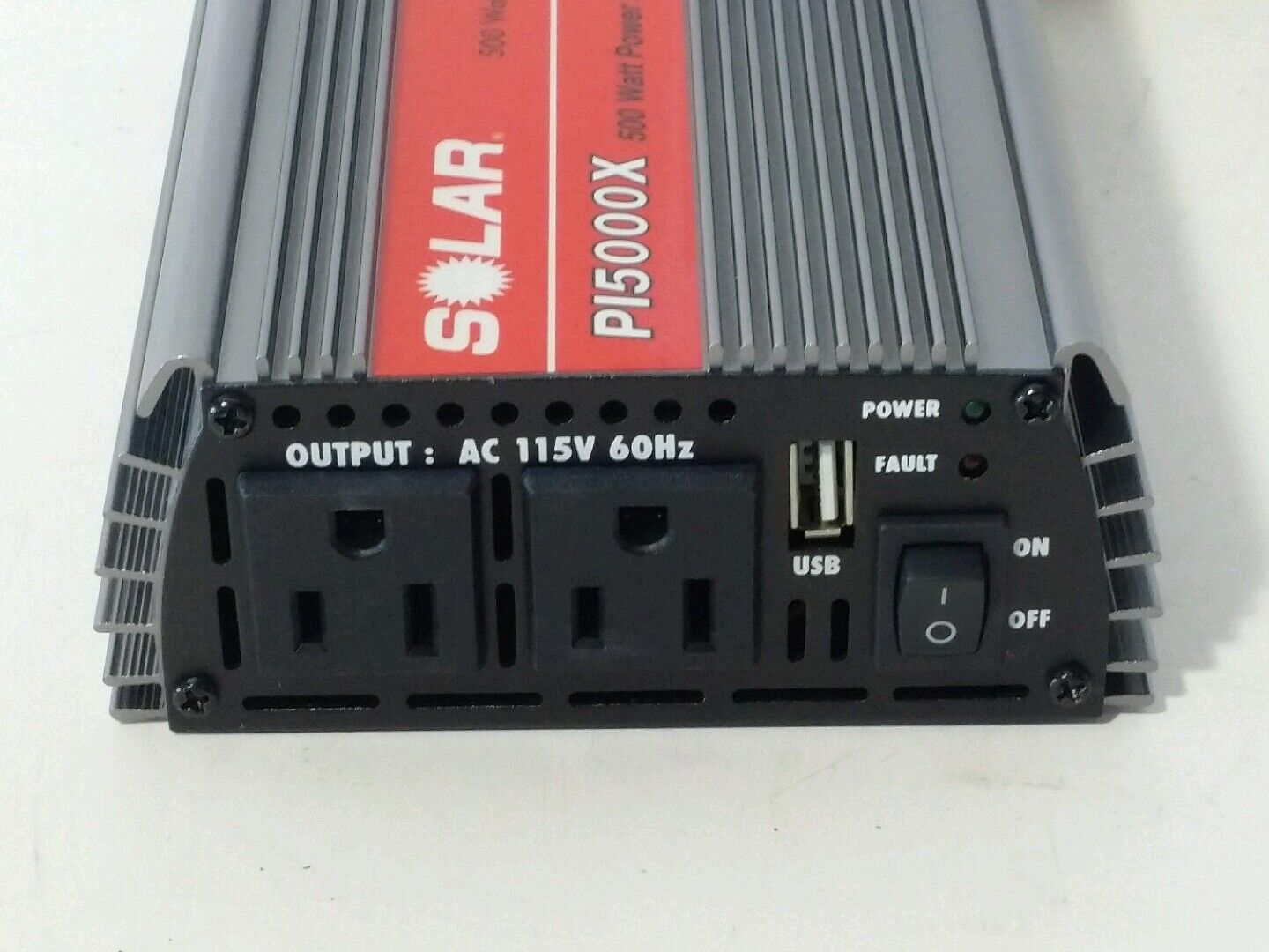 Solar PI5000X 500W Power Inverter with Dual Outlet Plus USB