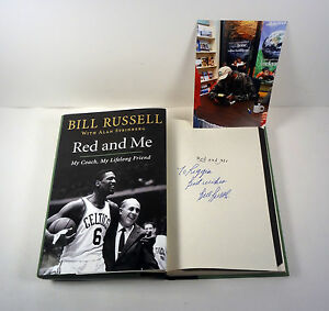 BILL-RUSSELL-CELTICS-SIGNED-AUTOGRAPH-RED-AND-ME-1ST-1ST-HC-BOOK-PROOF-COA
