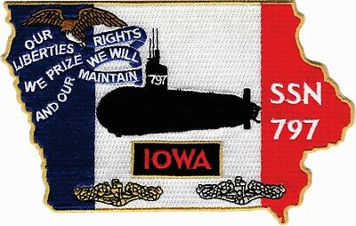 USS Iowa SSN 797 Pre-Comm patch BCPatch Cat No  C7298 | eBay