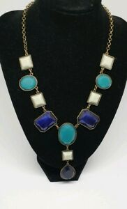 Blue-White-and-Turquoise-Drop-Necklace