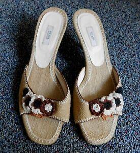 PRADA-Burlap-Crochet-Sandal-Kitten-Heels-Shoes-Sz-36-5-5-6