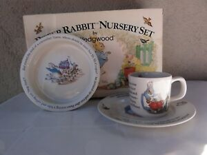 Image Is Loading Wedgwood Peter Rabbit Nursery Set In Box Never