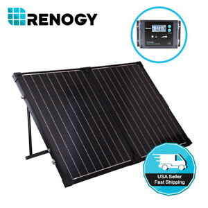 Open-Box-Renogy-100W-12V-Mono-Folding-Solar-Panel-Suitcase-Kit-w-20A-Controller