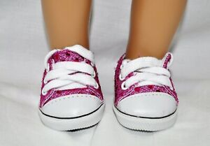Fits-Our-Generation-American-Girl-Doll-Journey-18-Dolls-Hot-Pink-Sequin-Sneakers