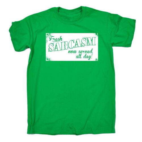 Fresh sarcasmo ora servita da Uomo T-shirt Tee Regalo Di Compleanno sarcastico scherzo divertente