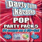 Party Tyme Karaoke: Pop Party Pack 5 [Box] by Karaoke (CD, Aug-2013, 4 Discs, Sybersound Records)