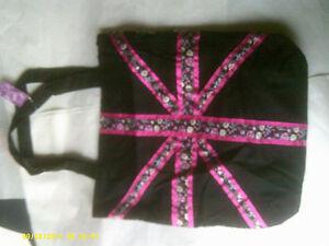 UNION JACK SUMMER BAG PINK Floral design Lightweight 2 colours BB763