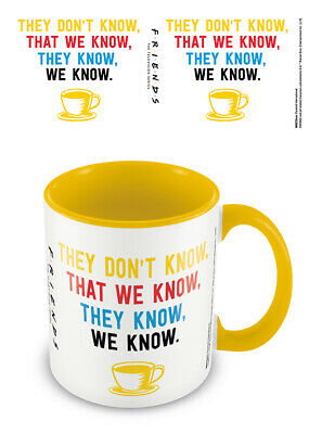 Yellow BOXED MUG CUP FREE POSTAGE F NEW Friends We Know