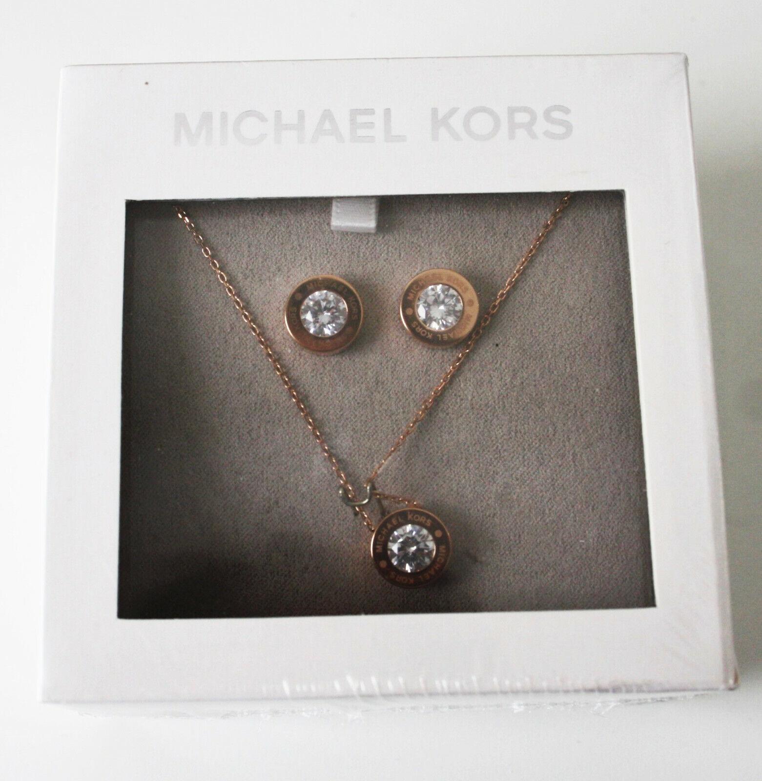 MICHAEL KORS Damen Set Halskette + Ohrstecker MKJ6717791 rosegold