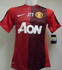 "MANCHESTER UNITED 2014/15 RED PRE-MATCH SHIRT ""JT7"" BY NIKE ADULTS SIZE SMALL"