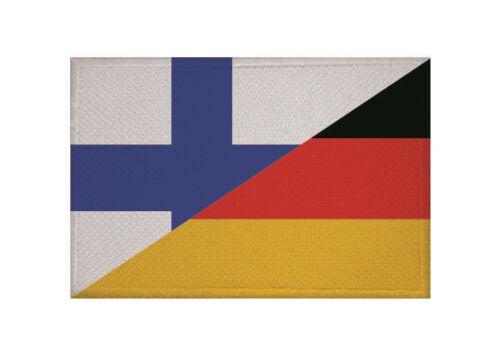 Un écusson Finlande-Allemagne Drapeau Drapeau Aufbügler patch 9 x 6 cm