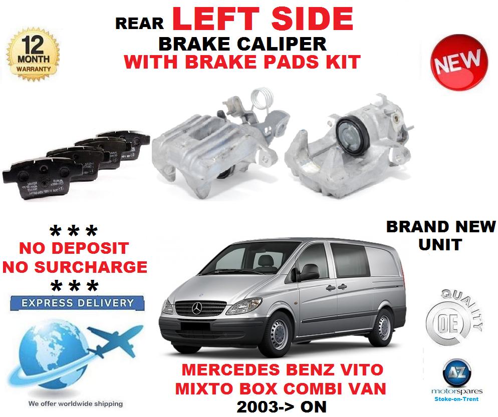 Für Mercedes Benz Vito Mixto Hintere Bremssattel- Links+Beläge Satz Lieferwagen