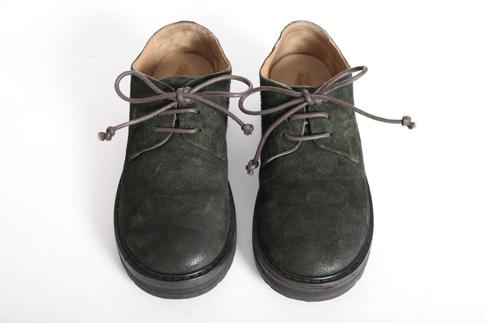 MARSELL NOIR NOIR NOIR effet vieilli cuir semelles épaisses Lacets Chaussures Oxford EU36 US6 UK2 c8a690