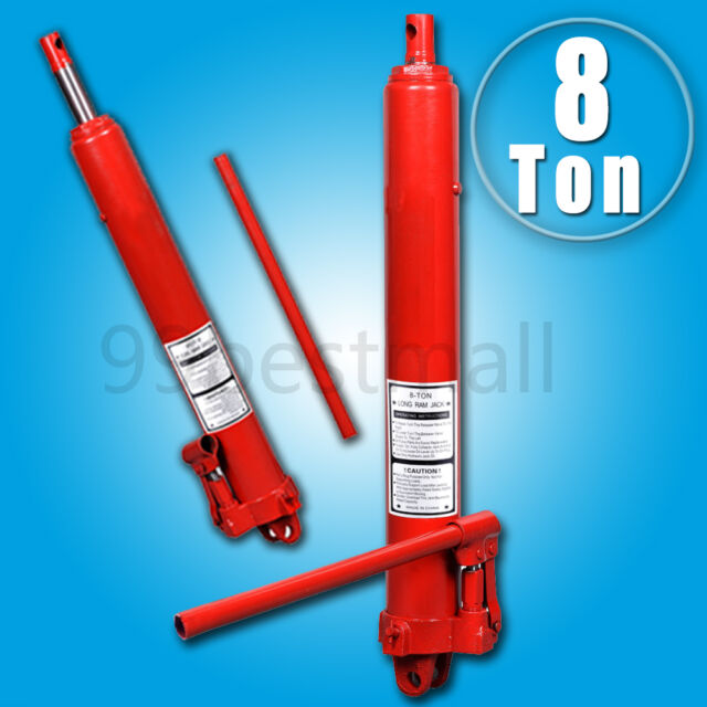 UK 8 Ton Hydraulic Jack Long Ram Manual Arm Replacement Engine Lift Hoist Cherry