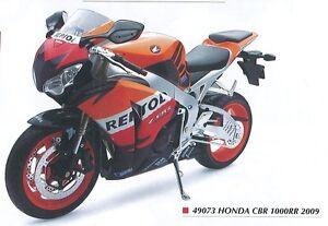 NEW-RAY-49073-HONDA-CBR-1000RR-diecast-model-bike-orange-blue-white-2009-1-6th
