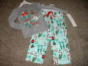 7e47cdecd Carter s Pajamas Toddler Girls Merry   Bright Fleece Christmas Set ...