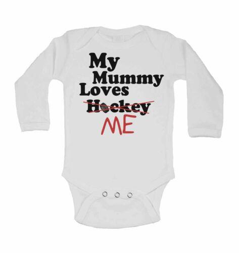 La mia mamma LOVES ME NOT hockey-Nuovo Divertente Personalizzato Manica Lunga Bambino Gilet