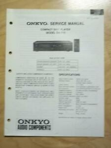 Original Onkyo Service Manual for the DX-702 CD Player~Repair