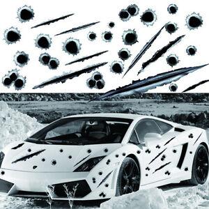 3D-BULLET-HOLES-AUTO-AUFKLEBER-STICKER-EINSCHUSSLoeCHER-PVC-EINSCHUSS-LOCH