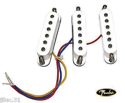 New SET 3 PU STRATOCASTER FENDER JAPAN Alnico V- flat top-  white -